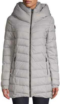 Point Zero Midweight Hooded Puffer Jacket
