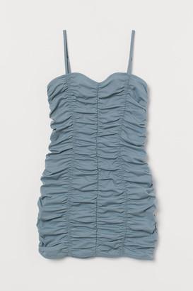 H&M Gathered Dress - Turquoise