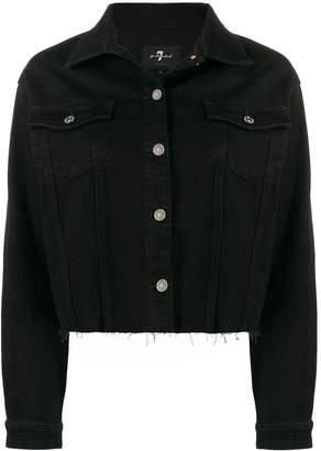 7 For All Mankind fringe detail denim jacket