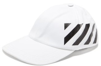 Off-White Diagonal-logo Cotton Baseball Cap - Mens - White