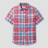 Cat & Jack Boys' Short Sleeve Button Down Shirt Cat & Jack - Red