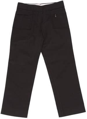 Louis Vuitton Black Cotton Trousers for Women