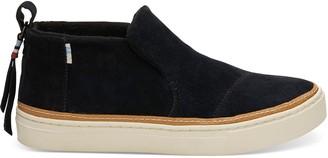 Toms Black Suede Women's Paxton Slip-Ons