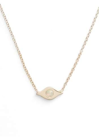 Ef Collection Opal Evil Eye Necklace