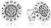 Pandora Stud Earrings - Sterling Silver & Cubic Zirconia Signature