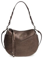 Jimmy Choo Artie Metallic Leather Hobo Bag - Brown