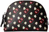Marc Jacobs Popcorn Scream Printed Coated Canvas Dome Cosmetic Cosmetic Case