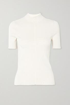 Oscar de la Renta - Ribbed Silk-blend Sweater - Ivory