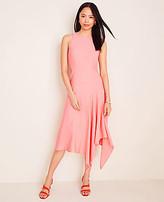 Ann Taylor Petite Asymmetric Hem Flare Dress