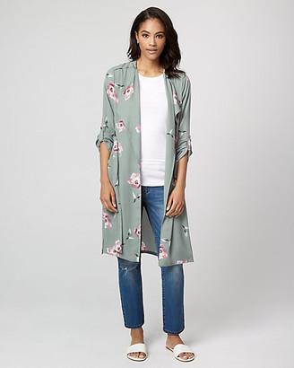 Le Château Floral Print Crepe de Chine Robe Jacket