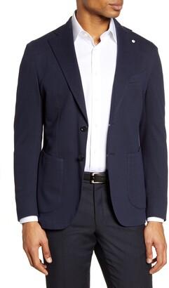 Lubiam Trim Fit Knit Cotton Blend Blazer
