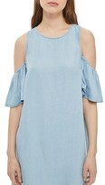 Topshop Women's Cold Shoulder Shift Dress
