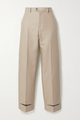 Maison Margiela Cotton-blend Twill Straight-leg Pants - Beige