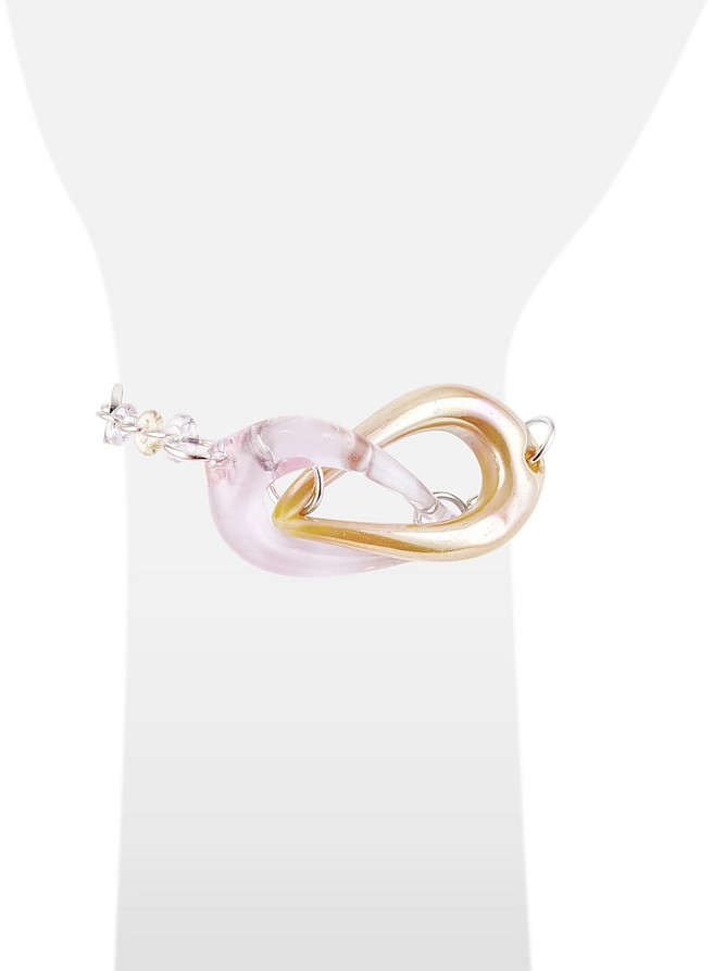 Antica Murrina Veneziana Connection - Interlocking Murano Glass and Sterling Silver Bracelet
