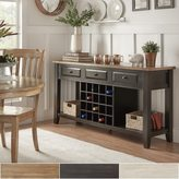 Tribecca Home Eleanor Two-Tone Wood Wine Rack Buffet Server by TRIBECCA HOME