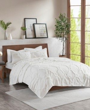 Madison Home USA Pacey King/California King 3 Piece Cotton Chenille Geometric Coverlet Set