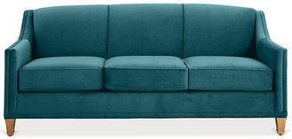 One Kings Lane Erin Sleeper Sofa - Peacock Crypton - frame, washed pine; upholstery, peacock