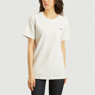 Bricktown World - White Cotton Eye T Shirt - cotton | white | s - White/White