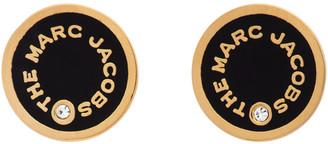 Marc Jacobs Black The Medallion Stud Earrings