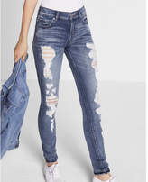 Express High Waisted Distressed Stretch Jean Legging