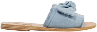 Ancient Greek Sandals Knotted Denim Slides