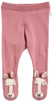 Stella Mccartney Kids Horse Cotton Blend Tricot Knit Leggings