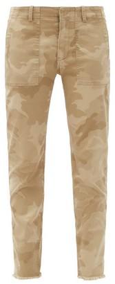 Nili Lotan Jenna Camo-print Cotton-blend Slim-leg Trousers - Khaki