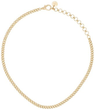 Shay 18kt yellow gold Baby Link pave diamond choker