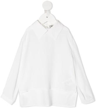 Simonetta Wide-Collared Shirt