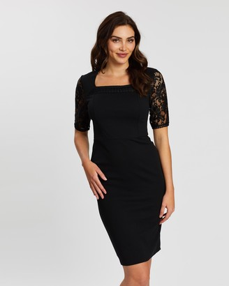 Dorothy Perkins Lace Trim Pencil Dress