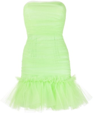 Brognano Strapless Ruffled-Hem Dress