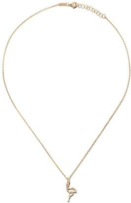As 29 14kt yellow gold diamond Flamingo necklace