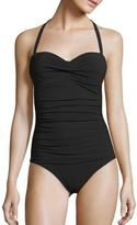Heidi Klein Oslo Ruched Bandeau Control One-Piece Swimsuit