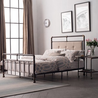 Somme Antique Dark Bronze Iron Metal Bed by Corvus