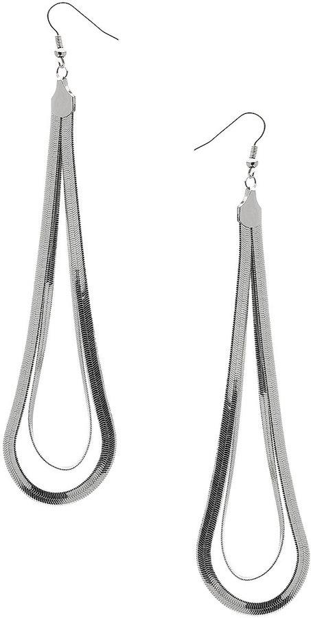 Topshop Flat Chain Loop Drop Earrings