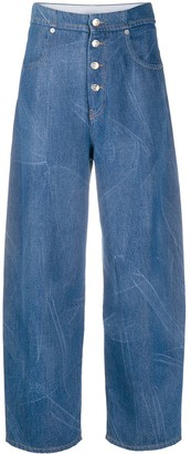 MM6 MAISON MARGIELA High-Rise Tapered-Leg Jeans