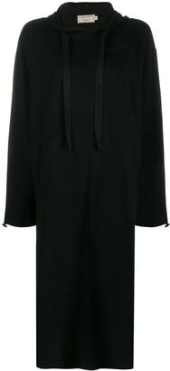 MAISON KITSUNÉ hooded sweater dress