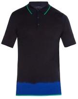 Lanvin Dip-dye merino-wool polo shirt