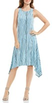 Vince Camuto Women's Electric Lines Handkerchief Hem Dress