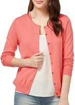 Wool Overs Women's Silk & Cotton Crew Neck Cardigan