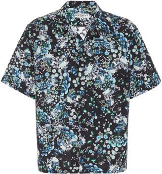 Givenchy Floral-Print Cotton Camp Shirt Size: 38