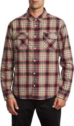 RVCA Hostile Plaid Button-Up Flannel Shirt
