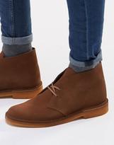 Clarks Originals Suede Desert Boots - Brown