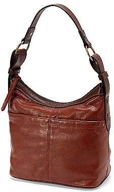 JCPenney St. John's Bay® Corrine Leather Hobo Handbag