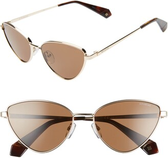 Polaroid 56mm Polarized Cat Eye Sunglasses