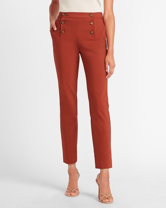 Express High Waisted Side Button Ankle Pant