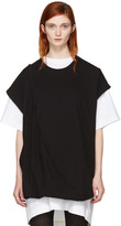 MM6 MAISON MARGIELA Black Asymmetric T-shirt Dress