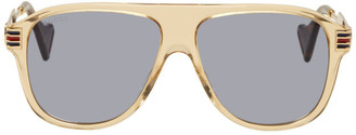 Gucci Brown Vintage 70s Pilot Sunglasses