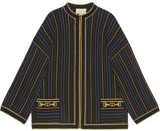 Gucci Glitter Lame Striped Jacket