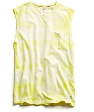Todd Snyder + Champion Tie Dye Muscle Tank in Fresh Lemon
